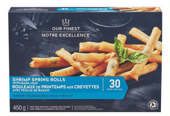 Our Finest Uncooked Shrimp Spring Rolls with Basil Leaf