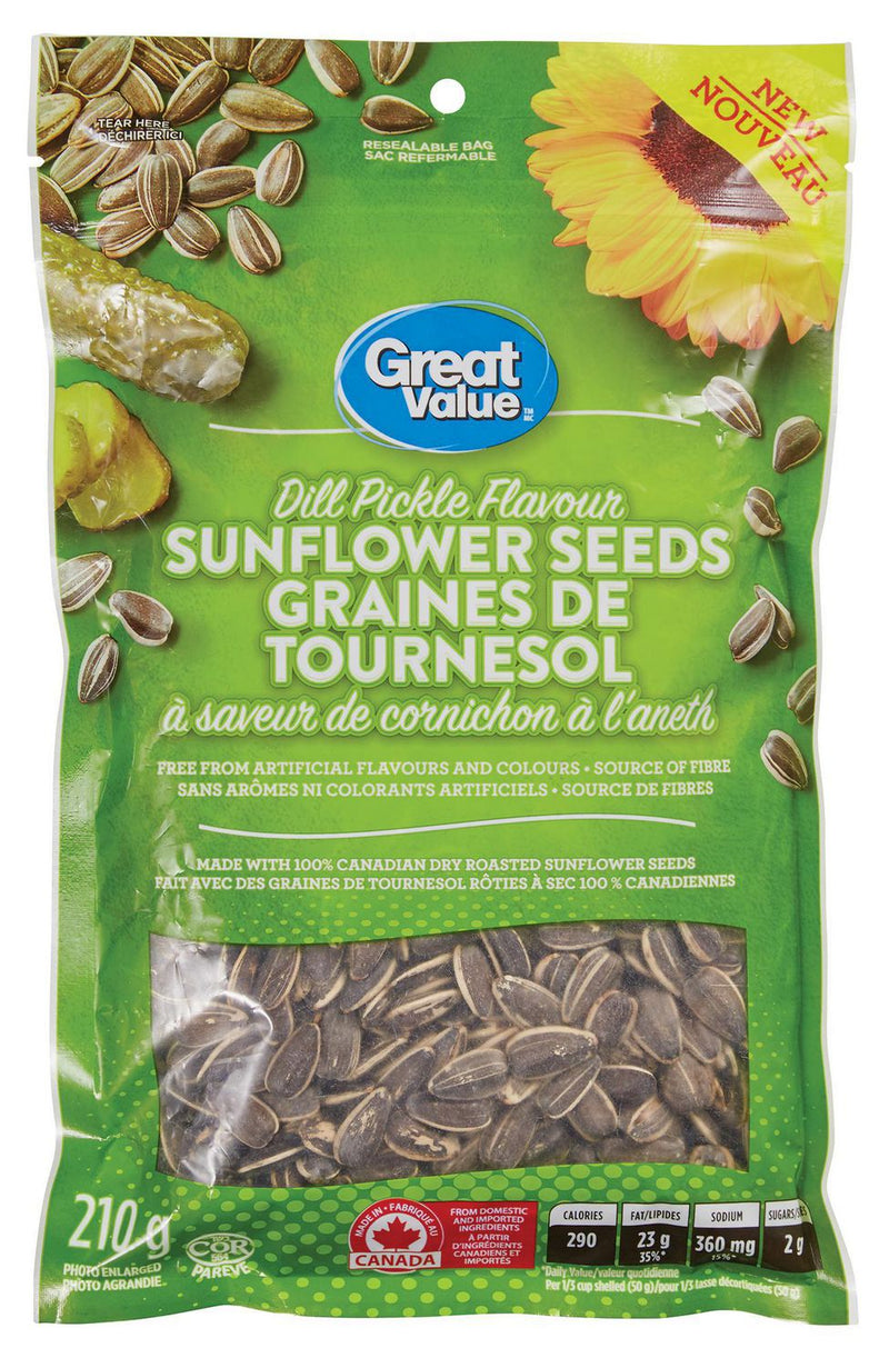 Great Value Dill Pickle Flavour Sunflower Seeds