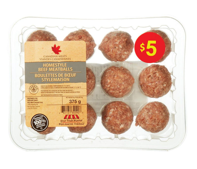 Your Fresh Market Homestyle Beef Meatballs 375 g