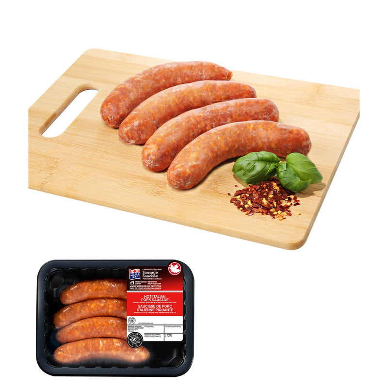 Maple Leaf Hot Italian Pork Sausages 450g