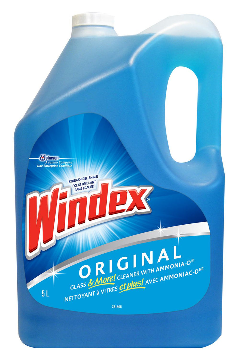 Windex Original Blue Glass and Window Cleaner Refill, 5L