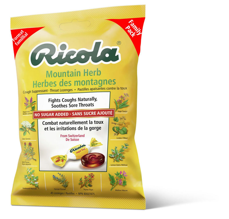 Ricola Mountain Herbs Suppressant Throat Lozenges