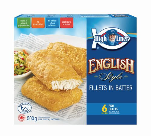 High Liner English Style Fish Fillets in Batter 500 G