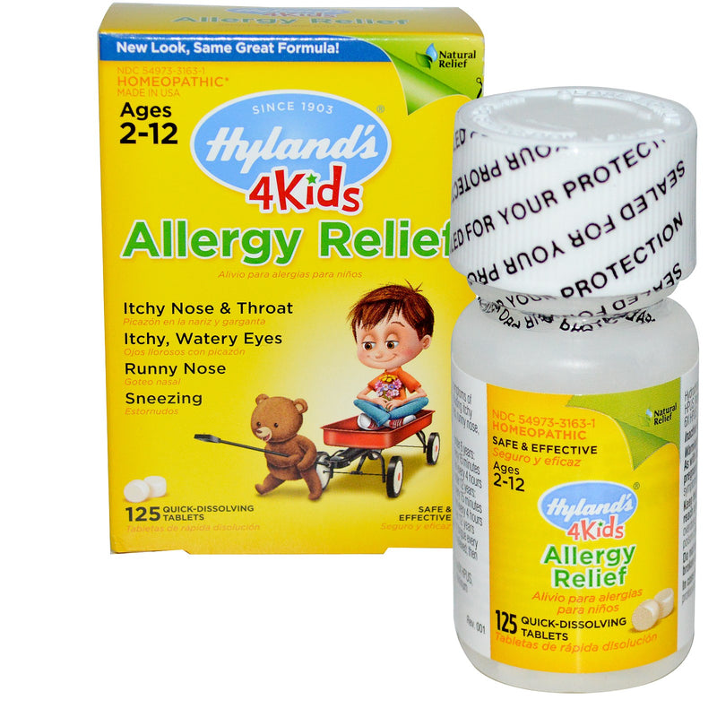 Hyland's 4 Kids Allergy Relief - 125 Tablets