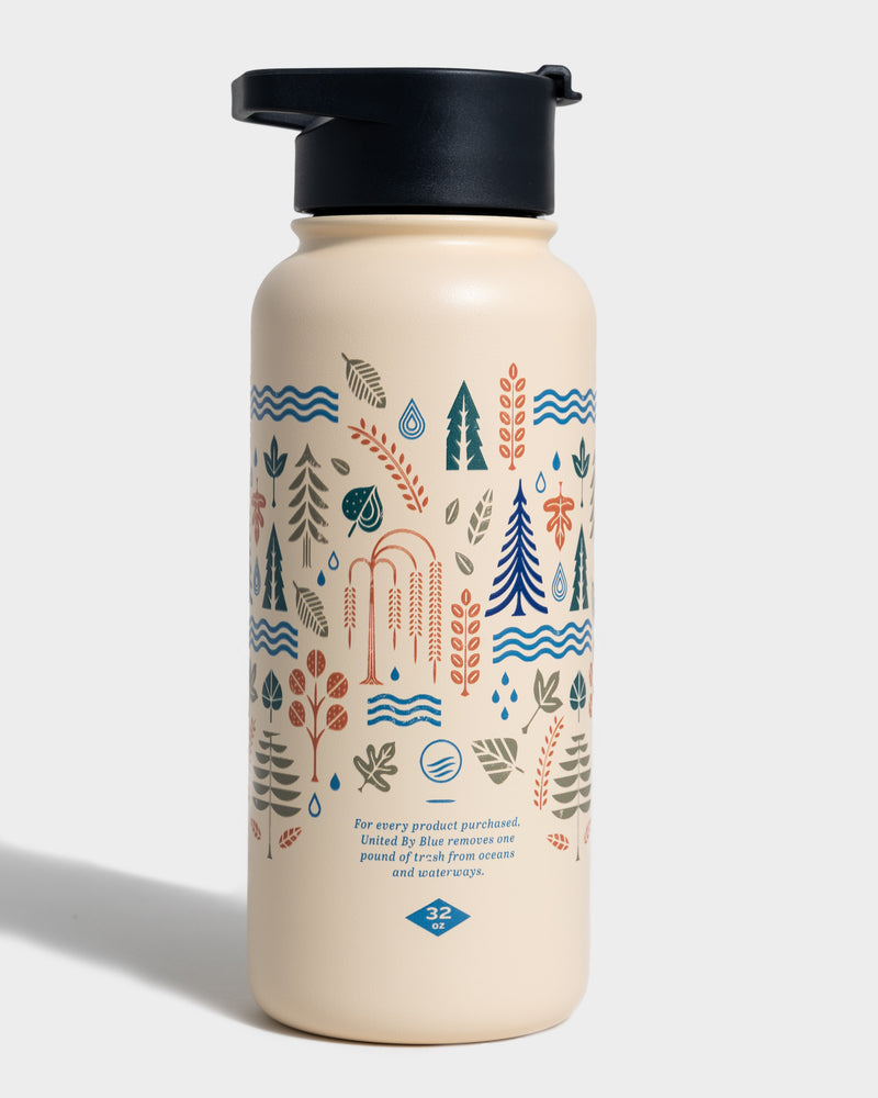 Funky Forest Water Bottle - Back
