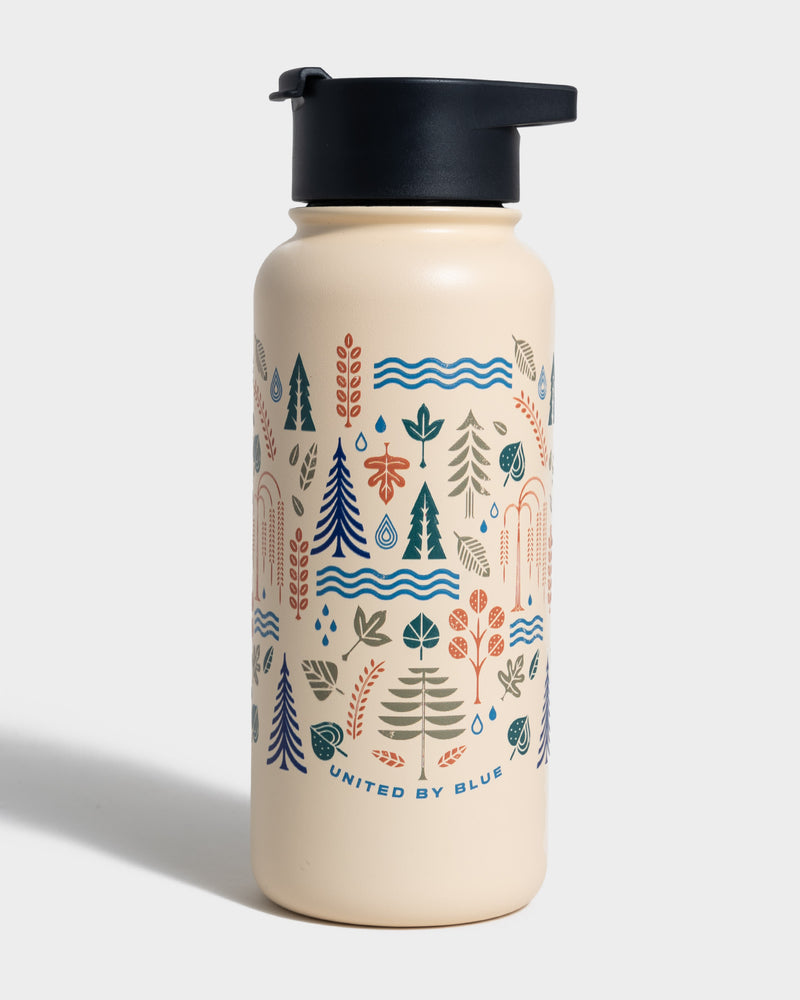 Funky Forest Water Bottle - Front
