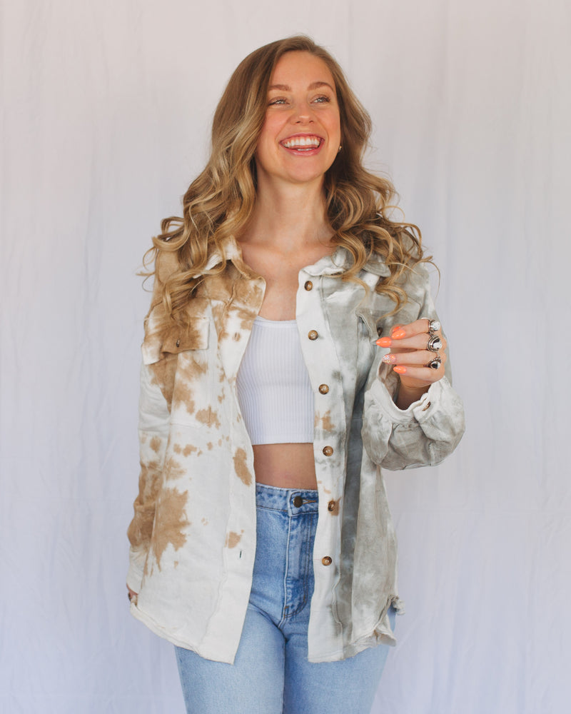Sunset Tie-Dye Button Down