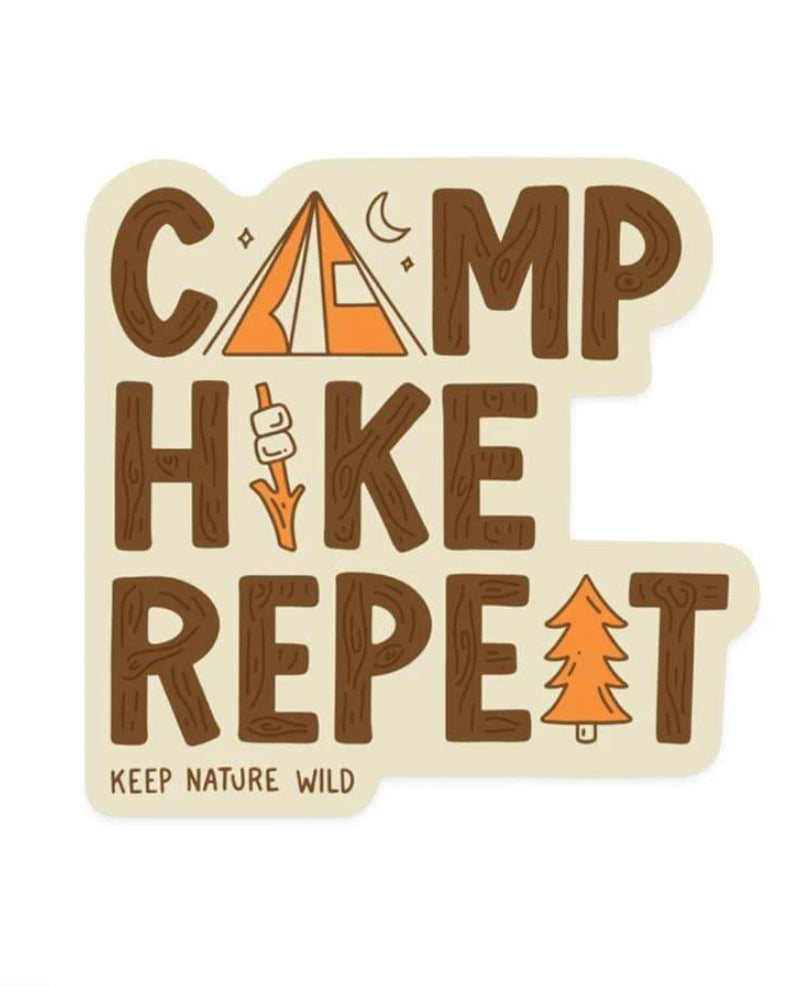 Camp Hike Repeat | Sticker