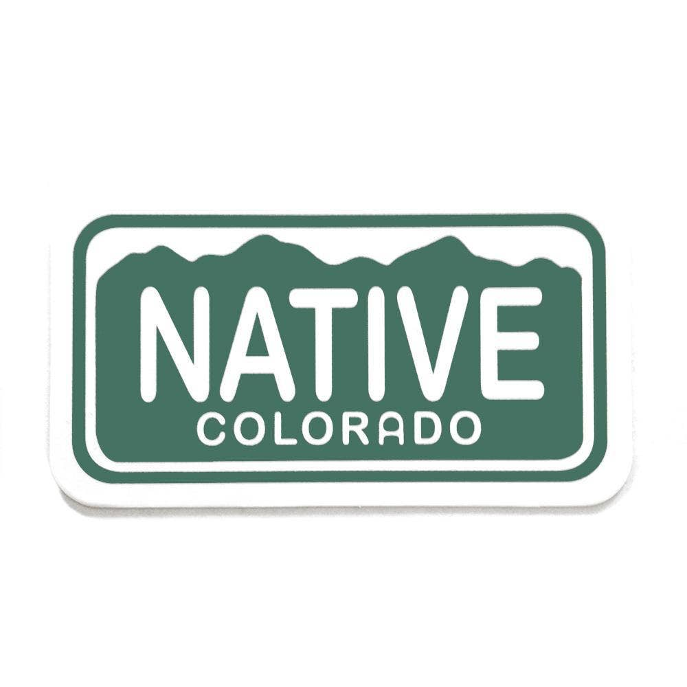 YoColorado | Native License Plate Sticker