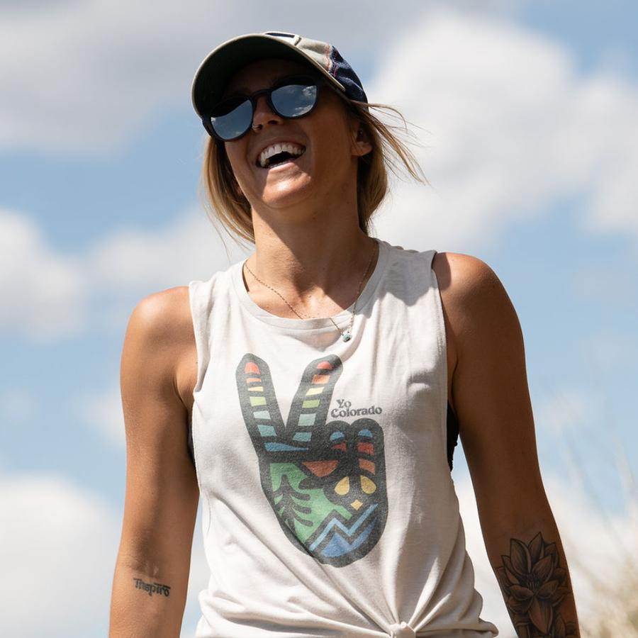 YoColorado | Peace Sign Muscle Tank