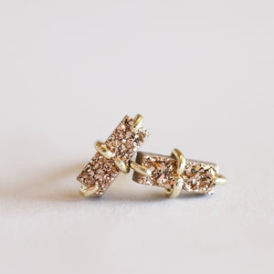 JaxKelly | Rose Gold Druzy Bar Stud