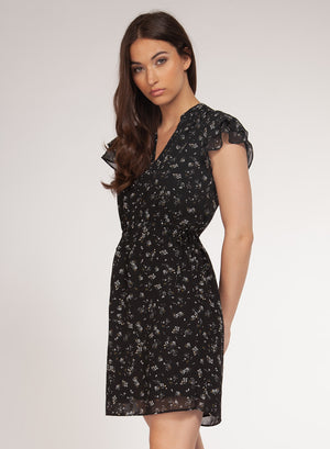 DEX Clothing | Ruffle Sleeve Dress