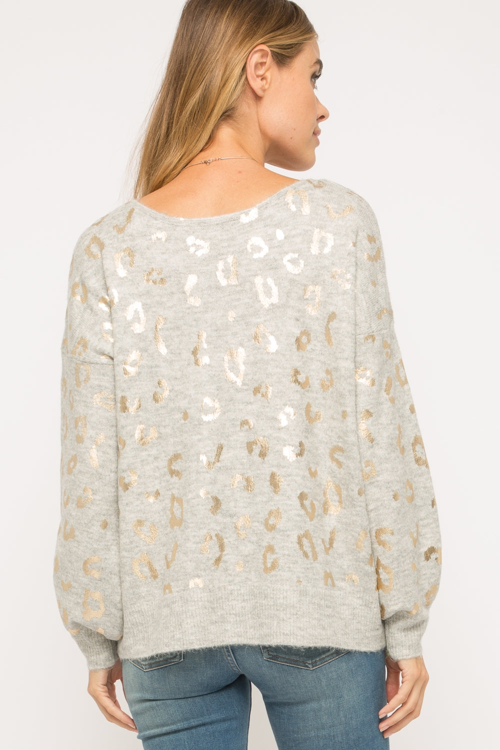 Mystree | Shiny Leopard Sweater