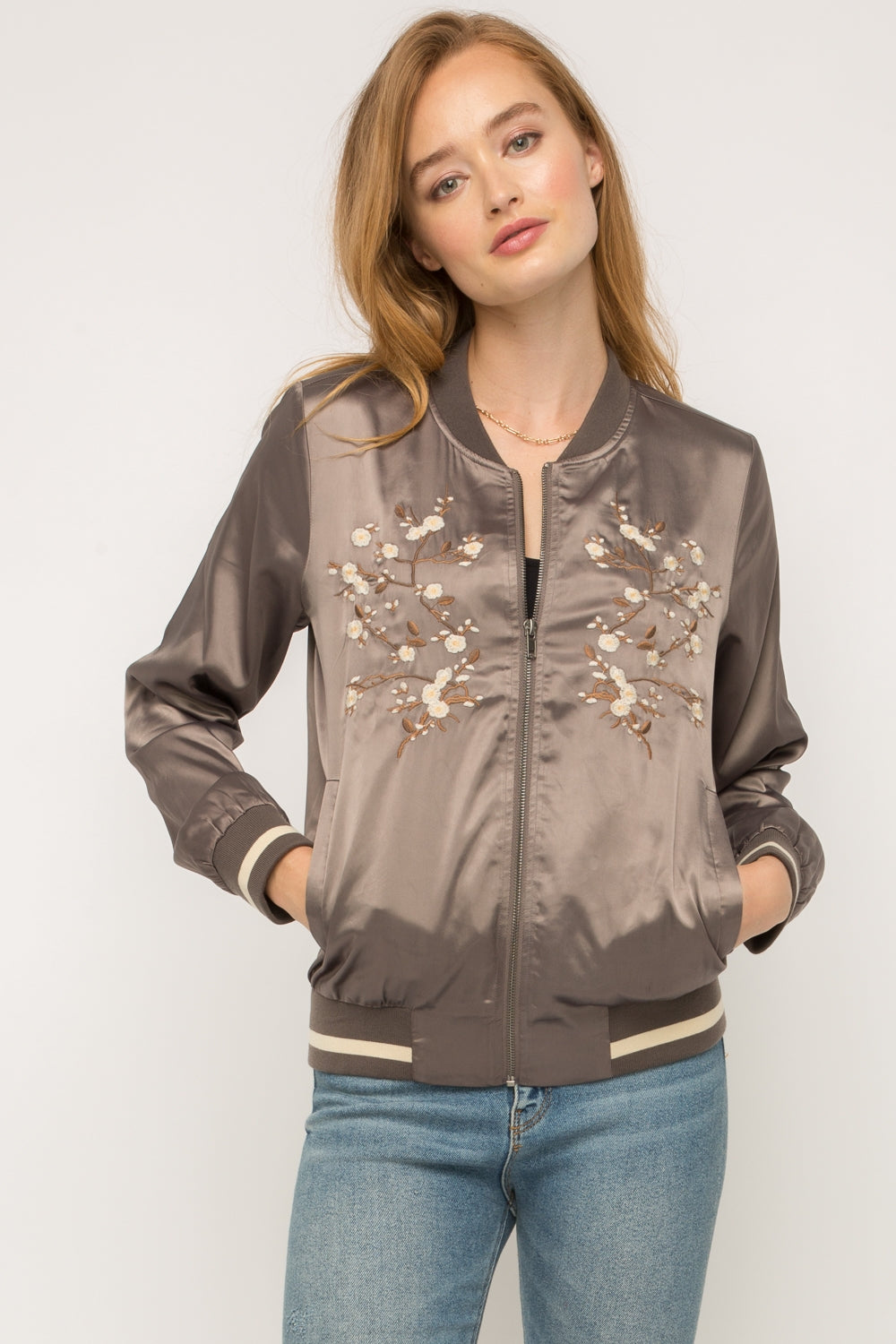 Mystree | Embroidered Bomber