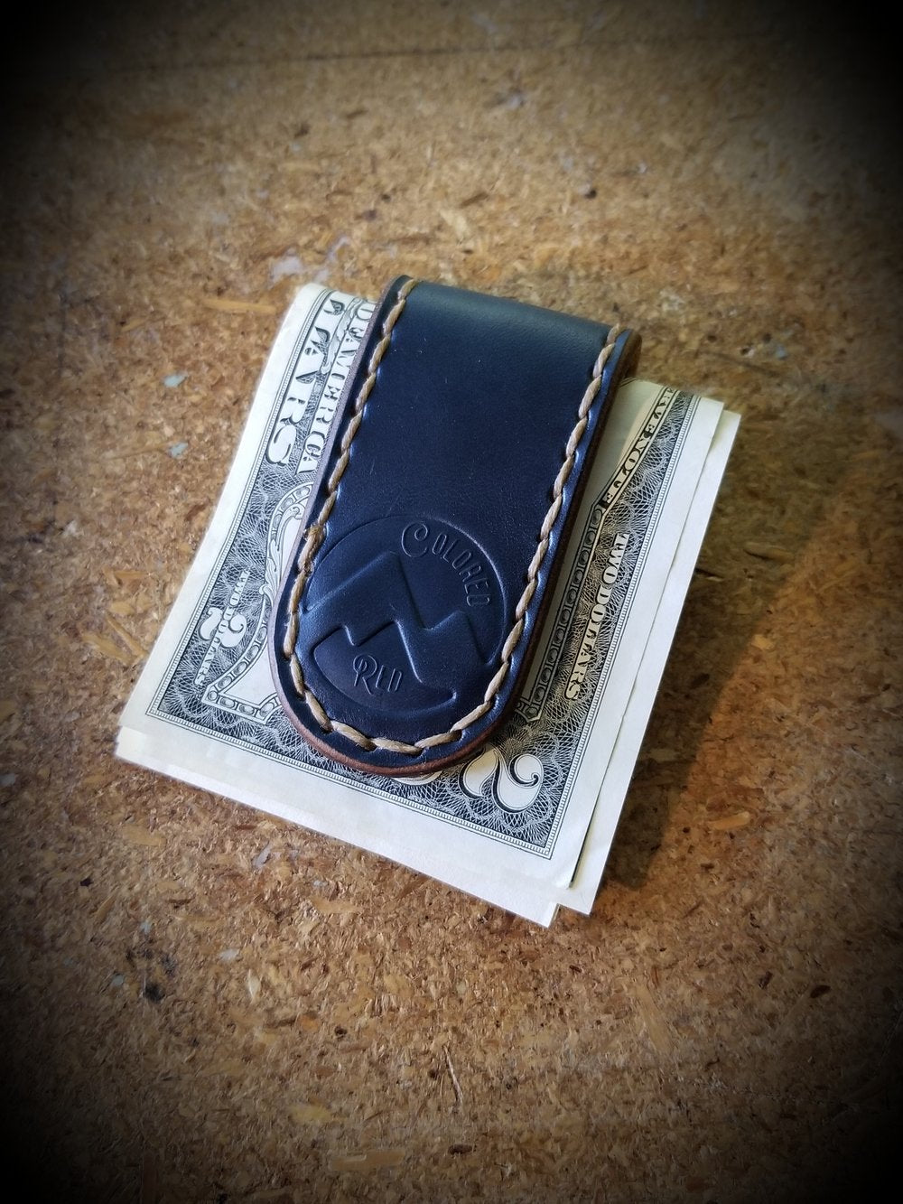 Colored Red | Silverthorne Leather Money Clip