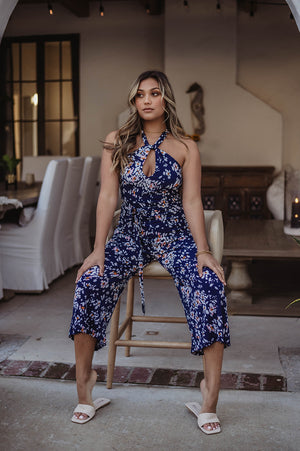 Veronica M | Twist Halter Jumpsuit