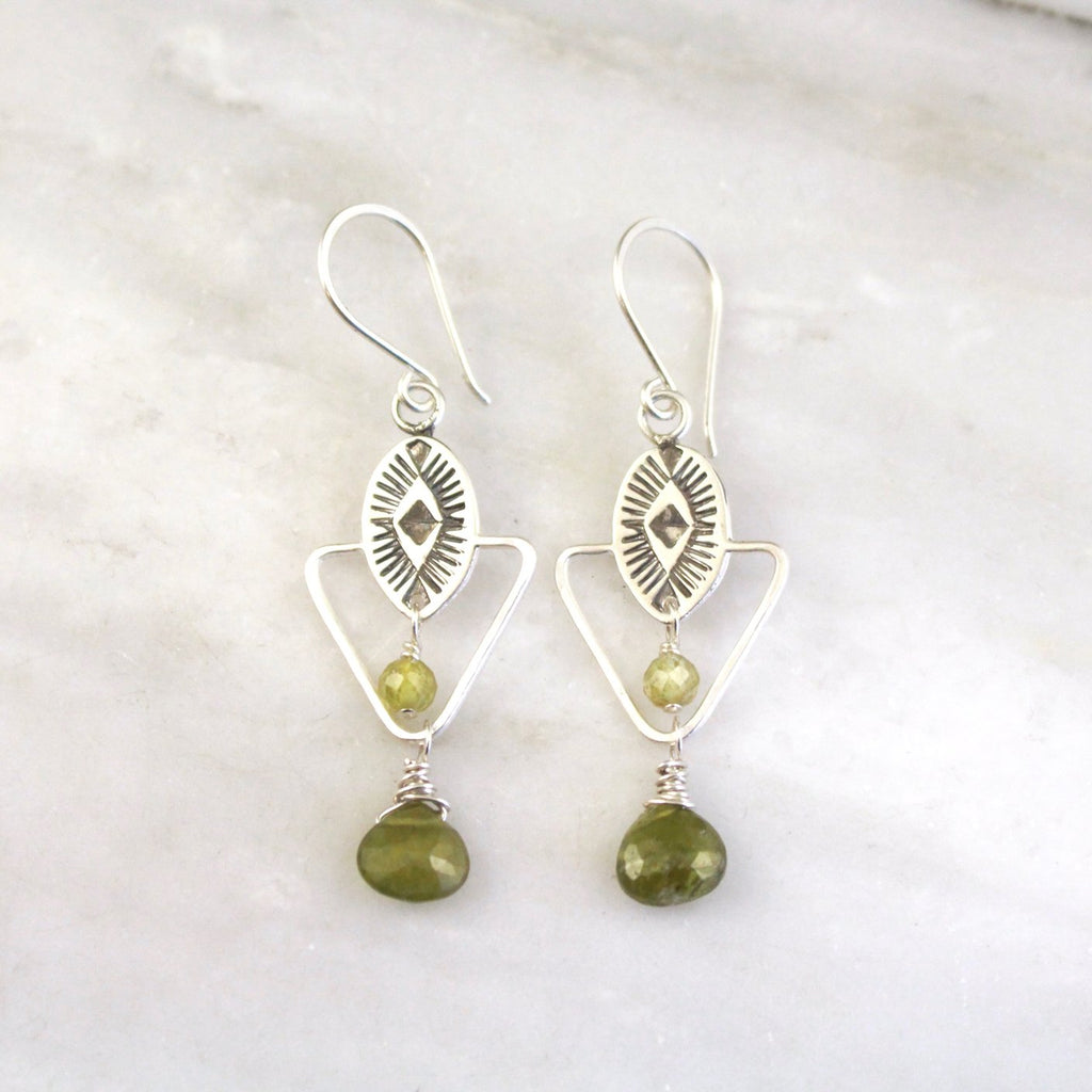 Sarah DeAngelo | Southwest Triangle Green Garnet