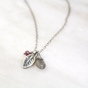 Sarah DeAngelo | Leaf Charm Necklace