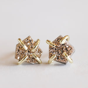 JaxKelly | Rose Gold Druzy Prong Earring