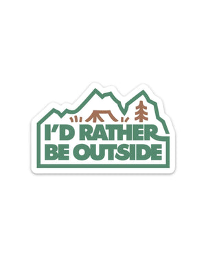 I'd Rather Be Outside | Forest Sticker