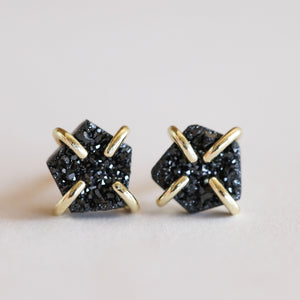JaxKelly | Black Druzy Prong Earring