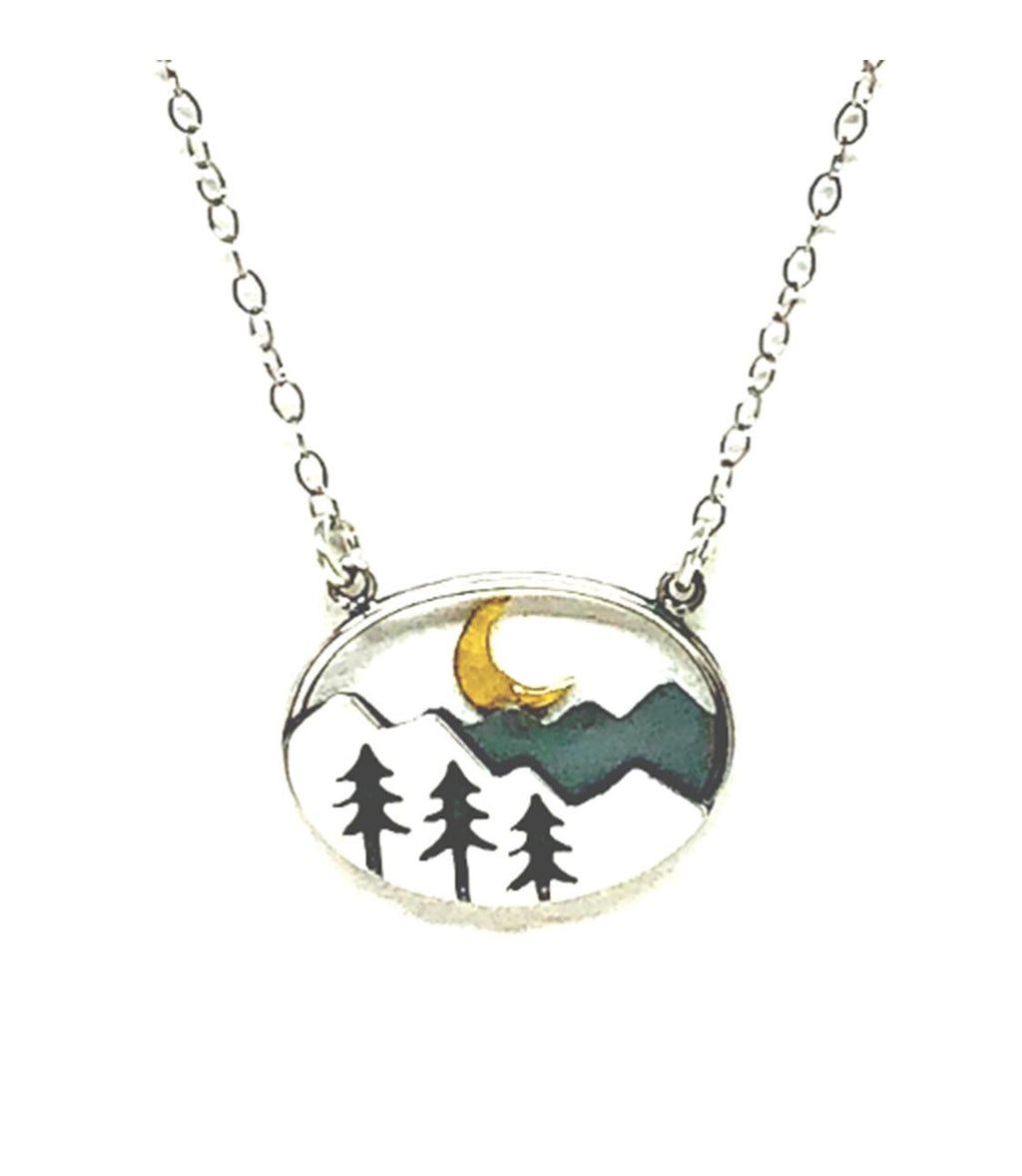 Athena | Tree & Mountain Necklace