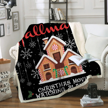 Load image into Gallery viewer, Americtops Black This is My Hallmark Christmas Movies Watching Blanket