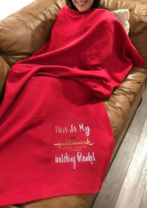 Americtops Red My Hallmark Movie Channel Watching Blanket