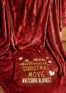 Americtops Hallmark Christmas Movie Watching Velvet Warm Blanket