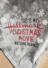 Load image into Gallery viewer, Americtops Hallmark Christmas Movie Watching Velvet Warm Blanket