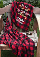 Load image into Gallery viewer, Americtops Red Plaid This Is My Hallmark Christmas Movie Watching Blanket
