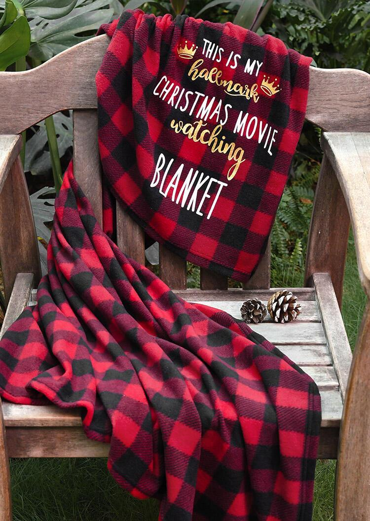 Americtops Red Plaid This Is My Hallmark Christmas Movie Watching Blanket