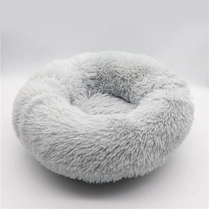 CALMING DOG BED WITH PET ANTI ANXIETY - Light Gray / 24 Inches / 60 CM
