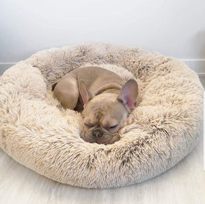 CALMING DOG BED WITH PET ANTI ANXIETY - Beige / 32 Inches / 80CM