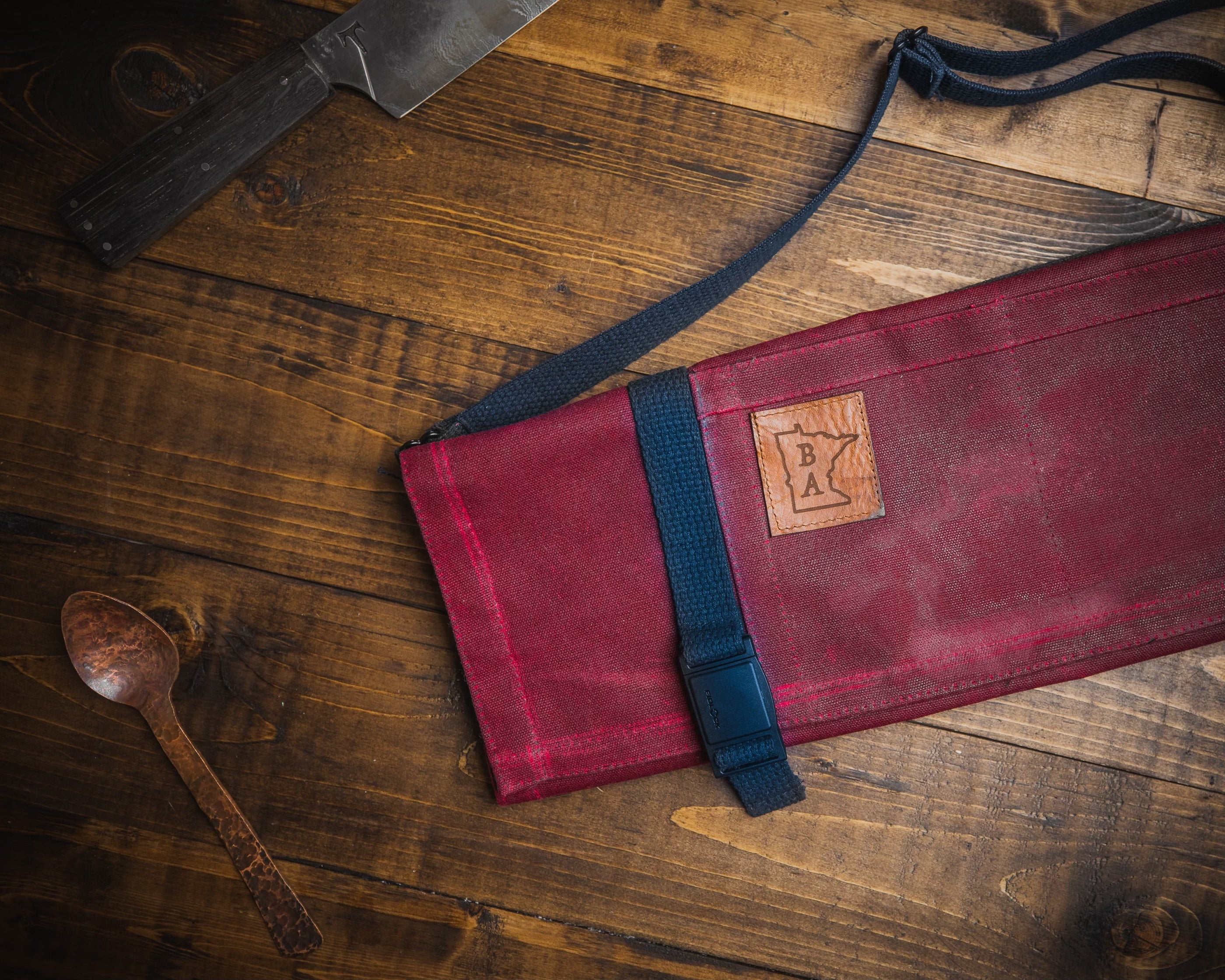 Main Squeeze - Burgundy - Knife Roll