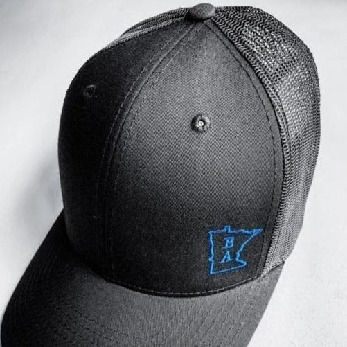 Black & Blue Trucker Cap