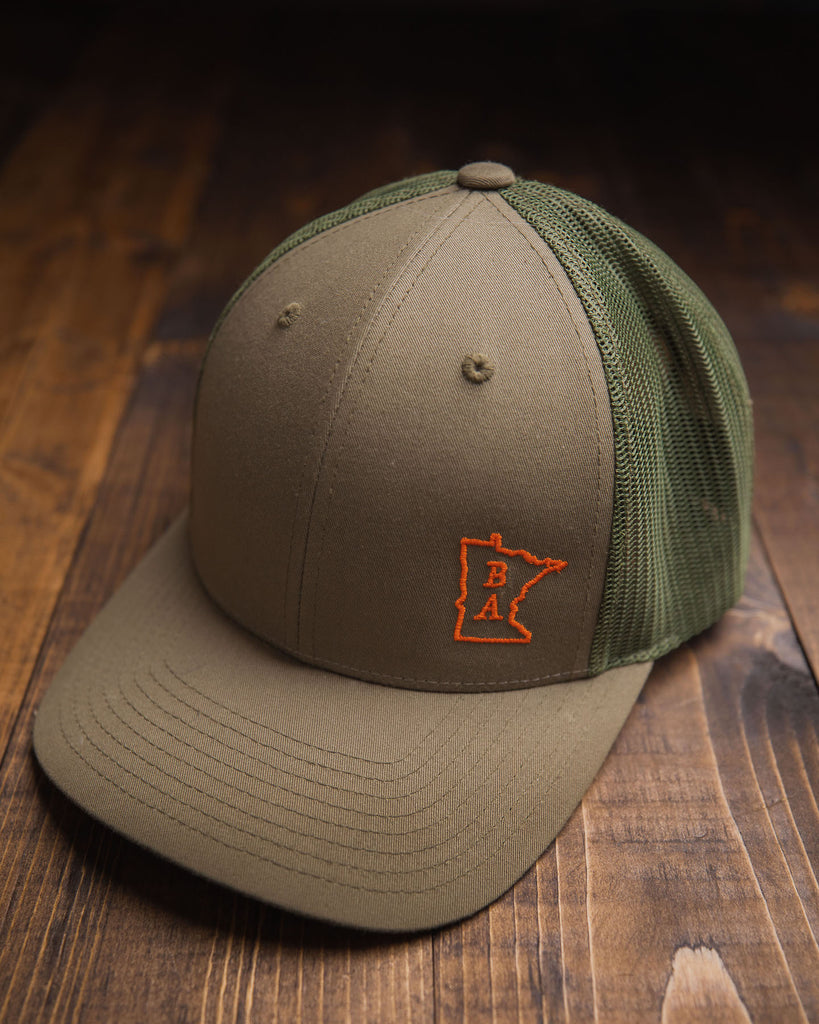 BA Trucker Hat - Green & Orange