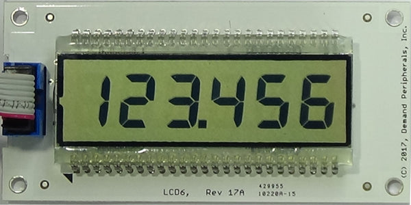 Six Digit LCD Display