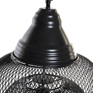 Suspension noire double grillage