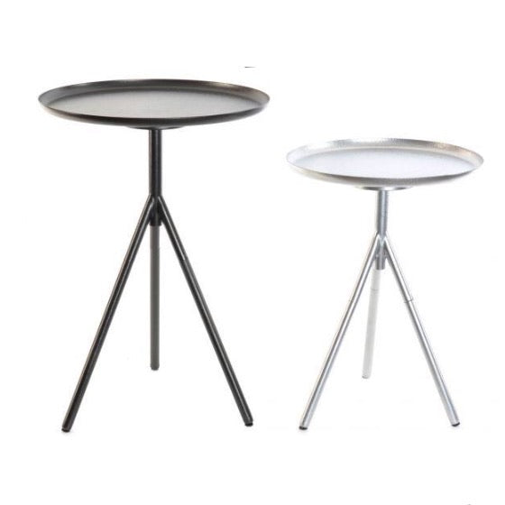 Set de 2 tables d'appoint en aluminium