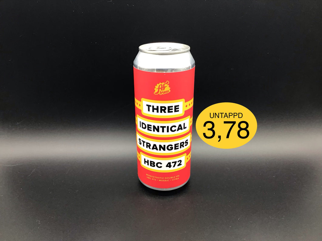 THREE IDENTICAL STRANGERS HBC 472 (AF brew) NE DIPA
