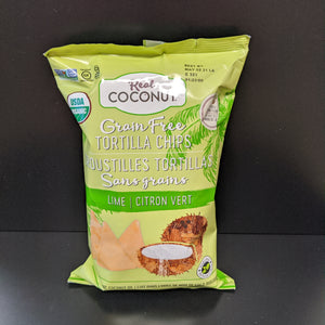 Real Coconut- Grain Free Tortilla Chips- Lime