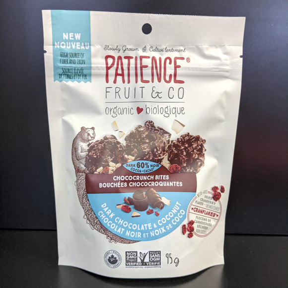 Patience Fruit & Co- Chococrunch Bites- Dark Chocolate & Coconur