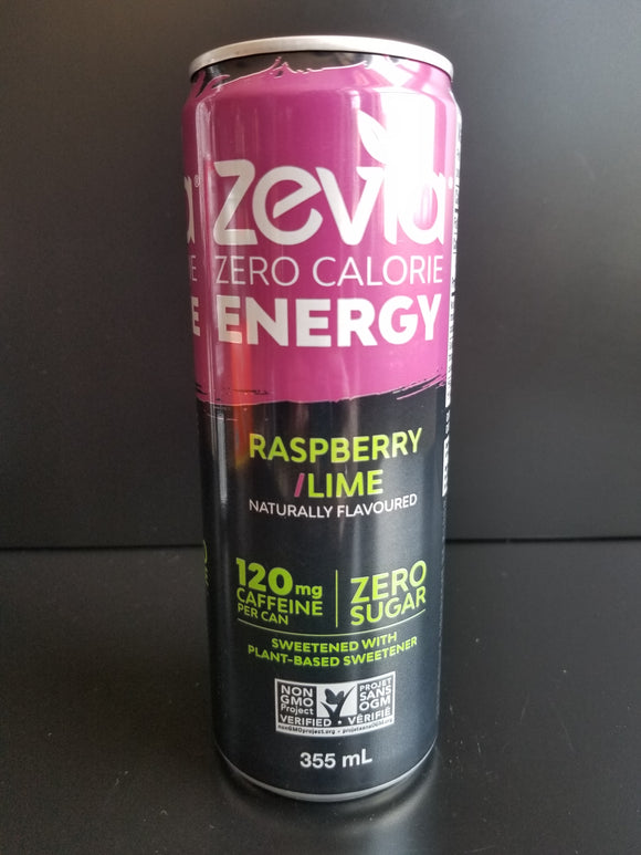 Zevia Energy- Raspberry Lime