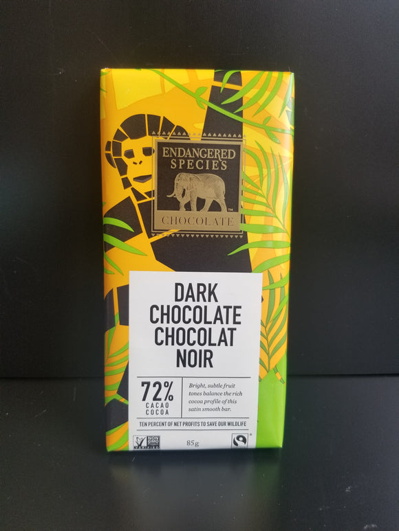 Endangered Species- Dark Chocolate 72%