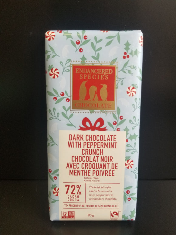 Endangered Species- Dark Chocolate- Peppermint Crunch