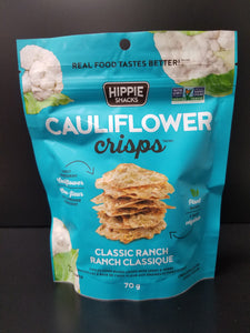 Hippie Snacks- Cauliflower Crisps- Ranch