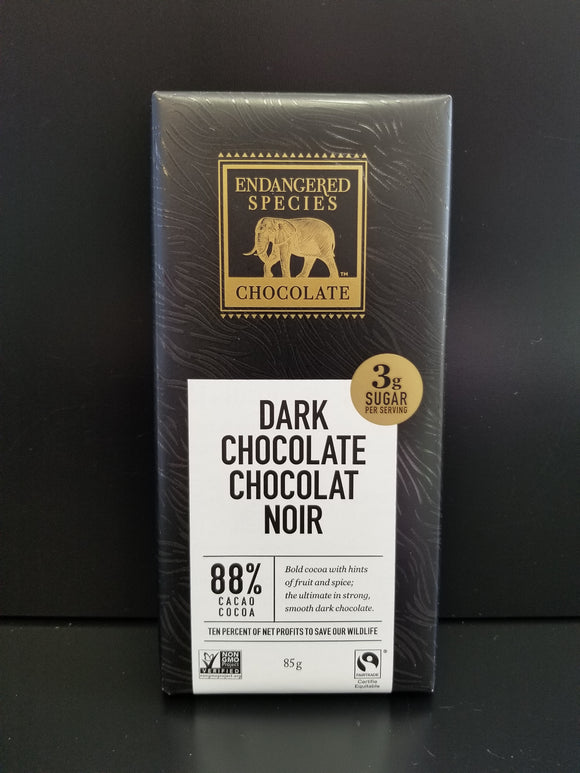 Endangered Species- 88% Dark Chocolate