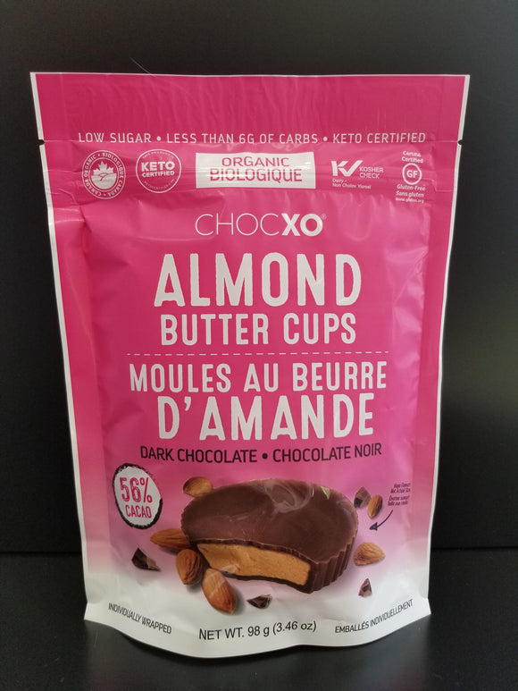 ChocXO- Dark Chocolate Almond Butter Cups