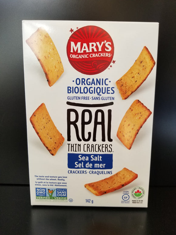 Mary's Real Thin Crackers - Sea Salt
